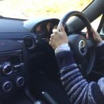 私が紀勢自動車道を夫のロードスターで運転する(往路)
