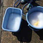 デミオの洗車をしました。15年ぶりに自分で洗車する…