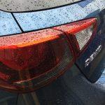 デミオを雨上がりに洗車しました